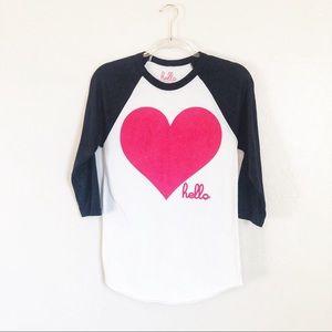Tops - Hello Heart Tee ❤️ A6